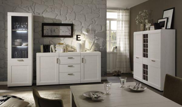Esstisch Ausziehtisch Pinie weiß Struktur 160 cm ausziehbar auf 200 cm Küchentisch mit Einlegeplatte