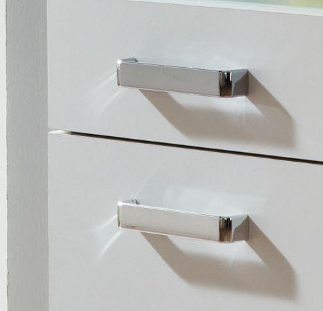 """Schminkkommode """"Rimini"""" in weiß mit Klappe und integriertem Spiegel (35 x 87 cm)"""