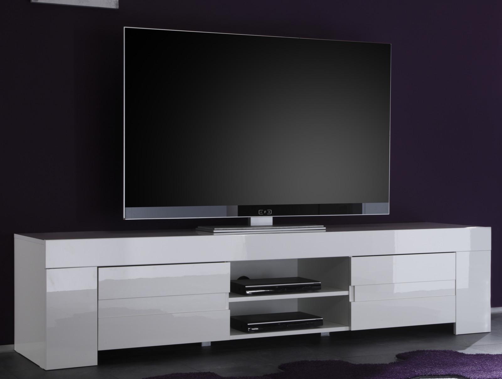 Tv Unterteil In Weiss Hochglanz Lack Italien Vienda