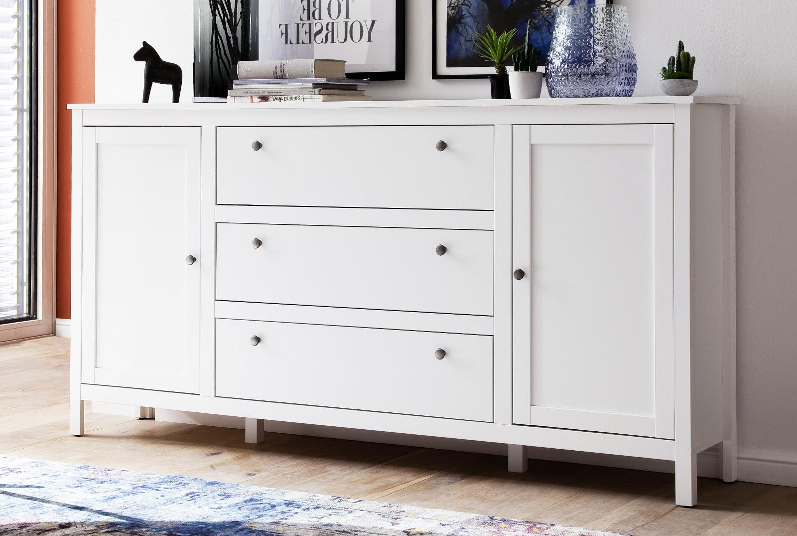 Flur Kommode Ole In Weiß Sideboard Garderobenschrank Anrichte Diele 183 X 98 Cm