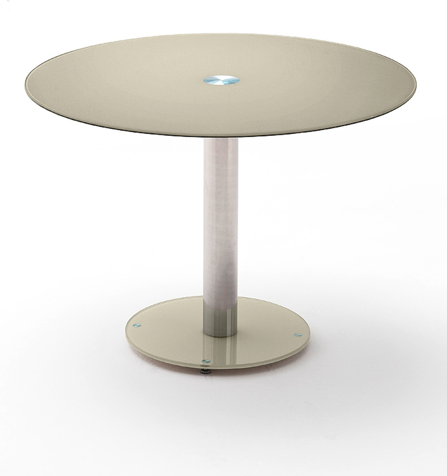 esstisch falko glas rund 100 cm durchmesser. Black Bedroom Furniture Sets. Home Design Ideas