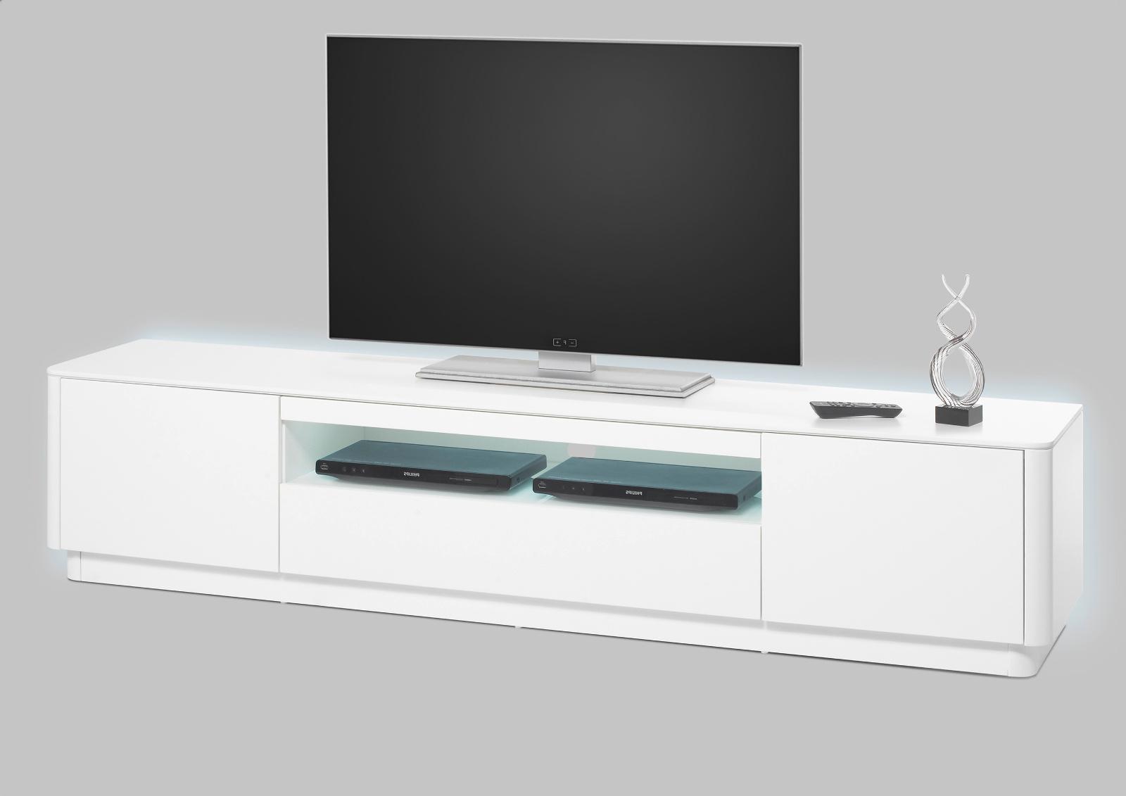 Lowboard Weiß 180 Cm : tv lowboard menton matt wei lack 180 cm ~ Yuntae.com Dekorationen Ideen
