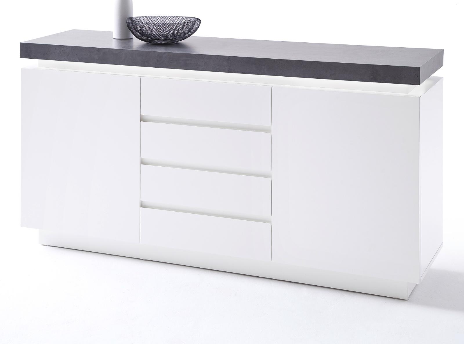 Kommode Weiß Grau 2021