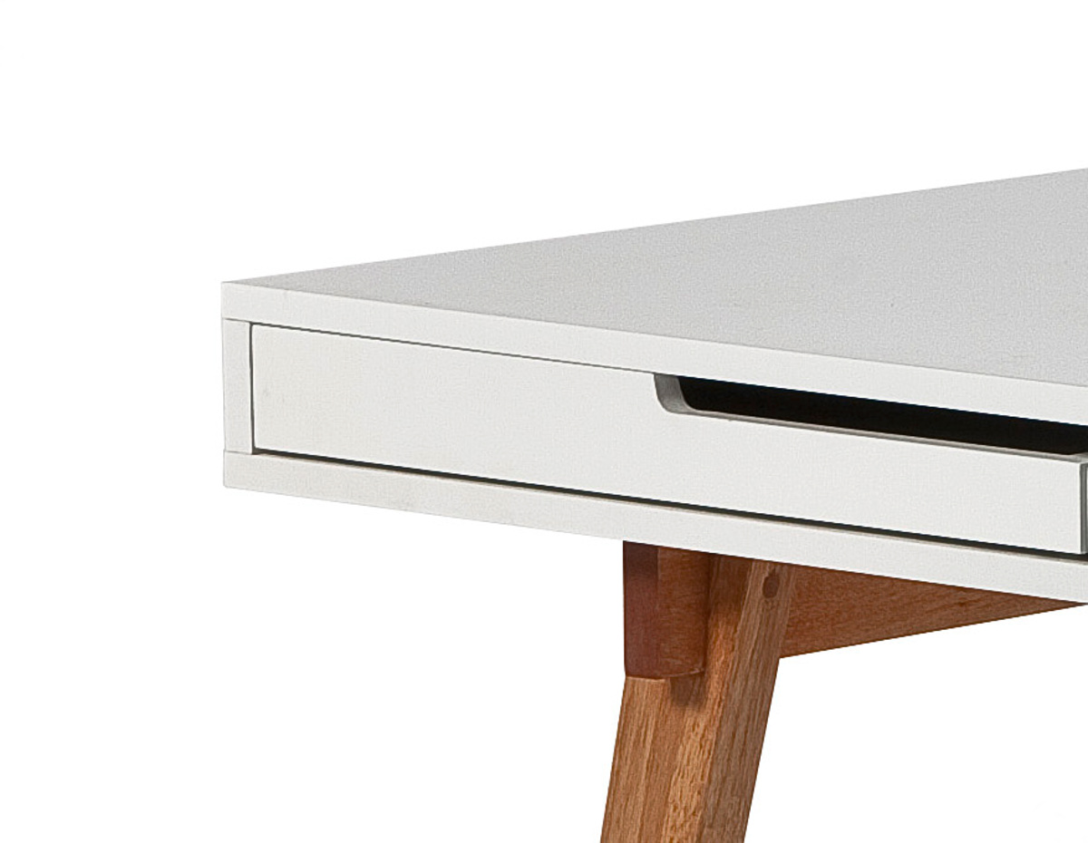 Schreibtisch Massivholz Weiß 2021