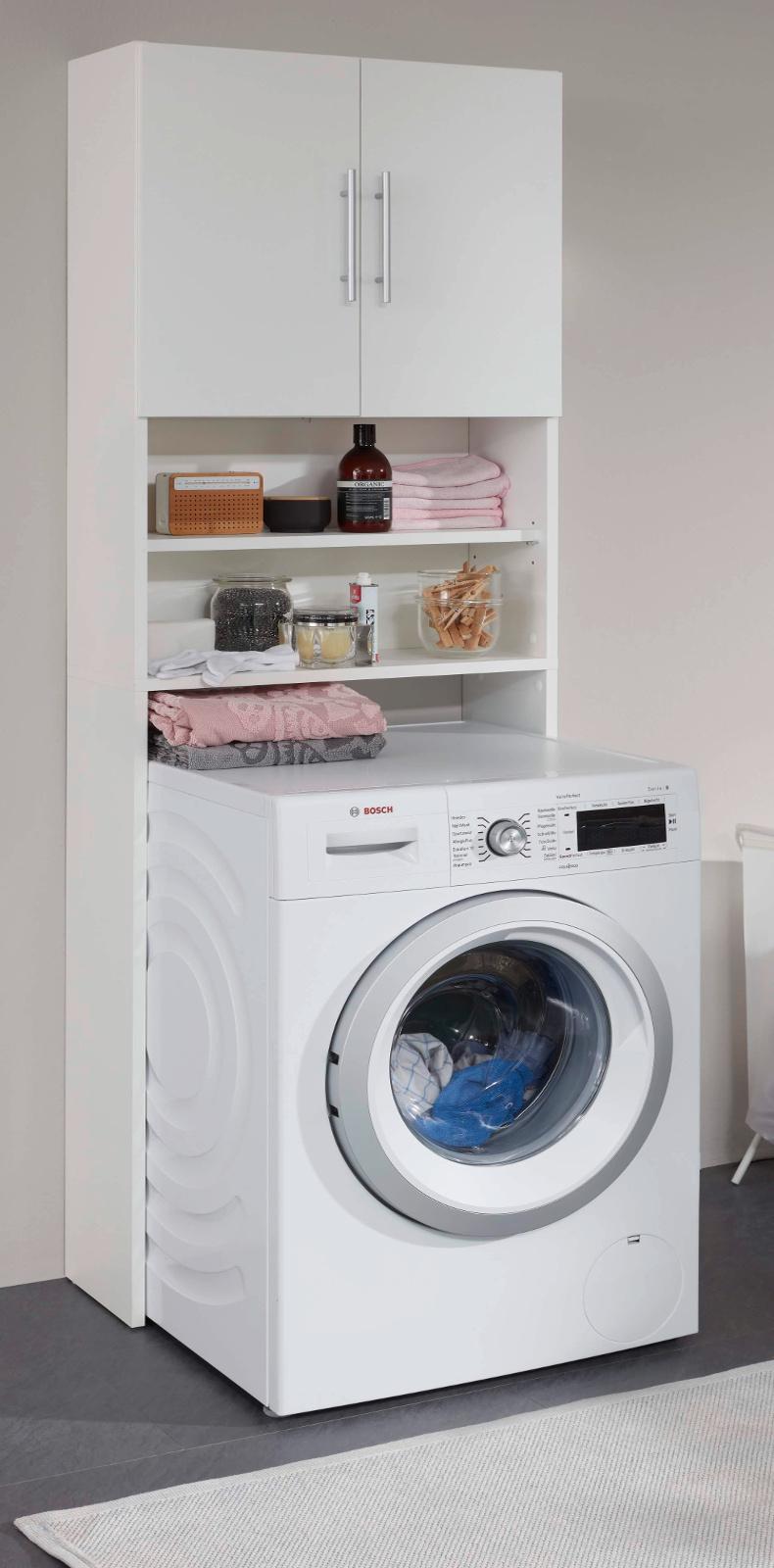 Badmobel Mit Waschmaschinenschrank.Waschmaschinenschrank Bad Basix Weiss 64 Cm