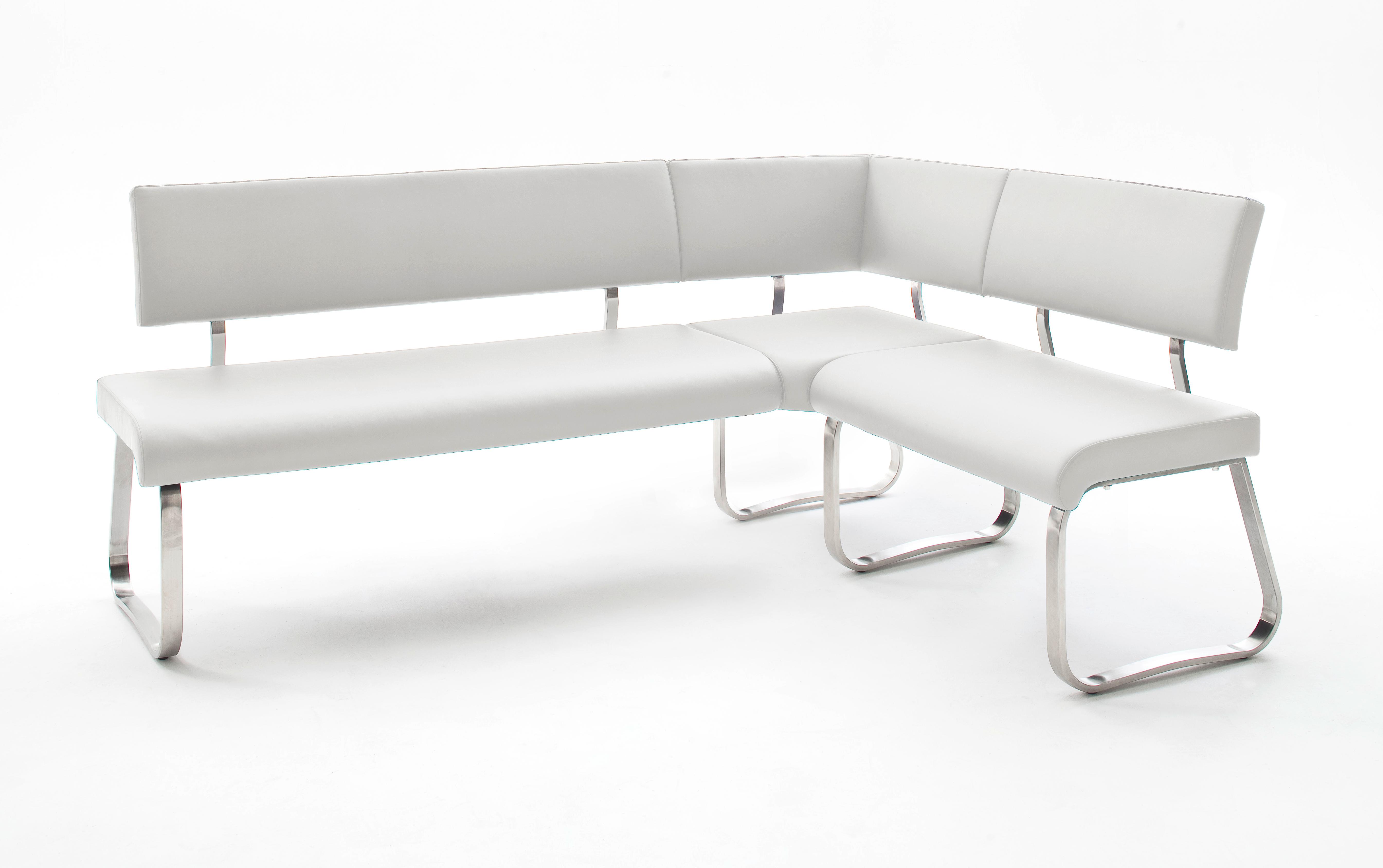 Eckbank Arco Weiss Kunstleder 200 X 150 Cm