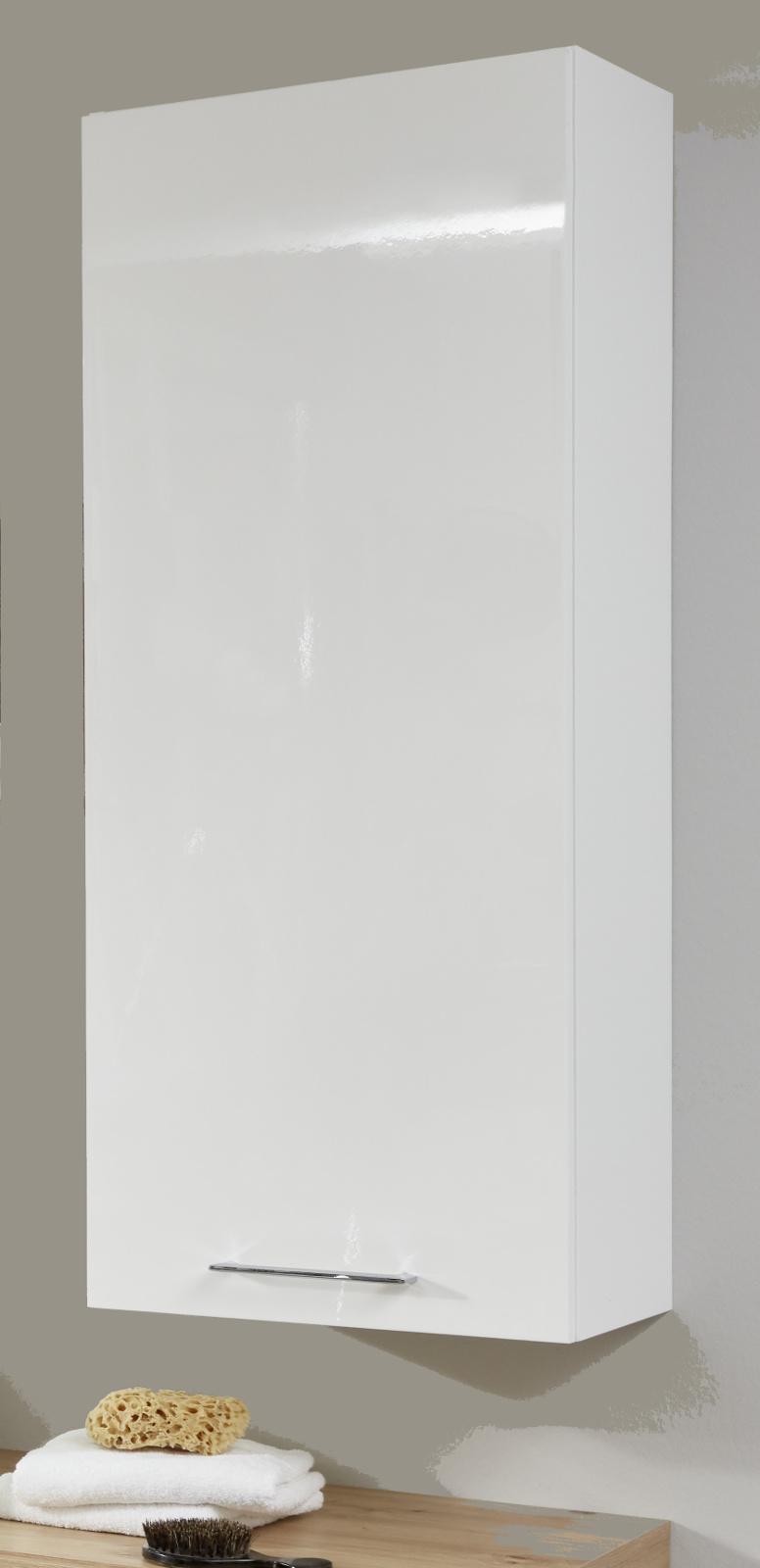 Badmobel Hangeschrank One Hochglanz Weiss Lack 45 Cm