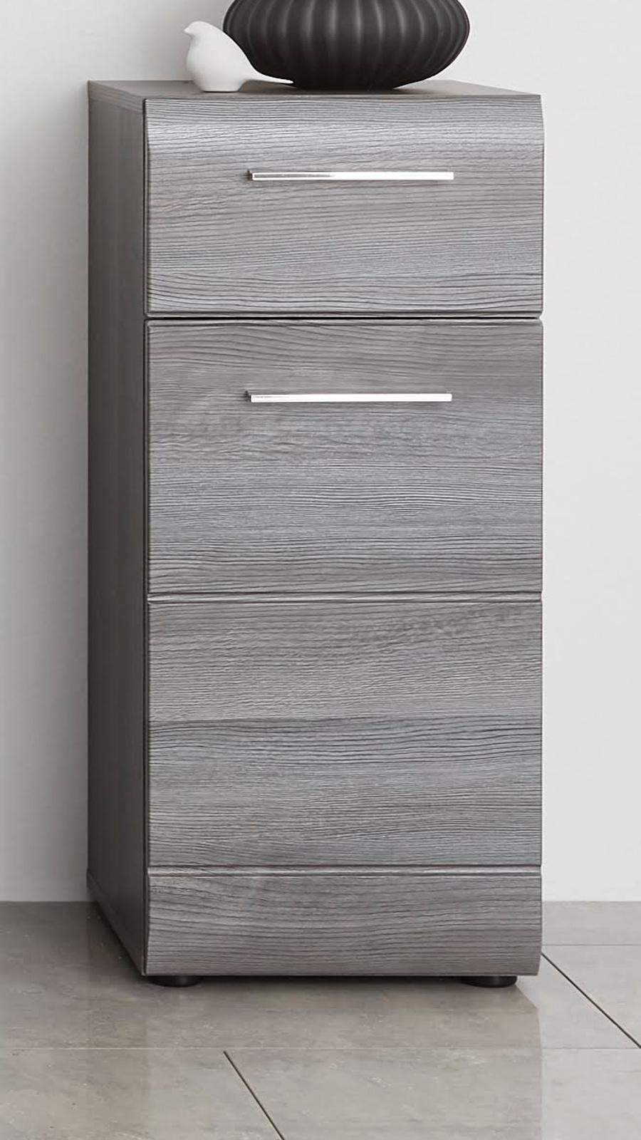 Badezimmer Unterschrank Line in Sardegna grau Rauchsilber Bad Kommode 9 x  9 cm Standschrank