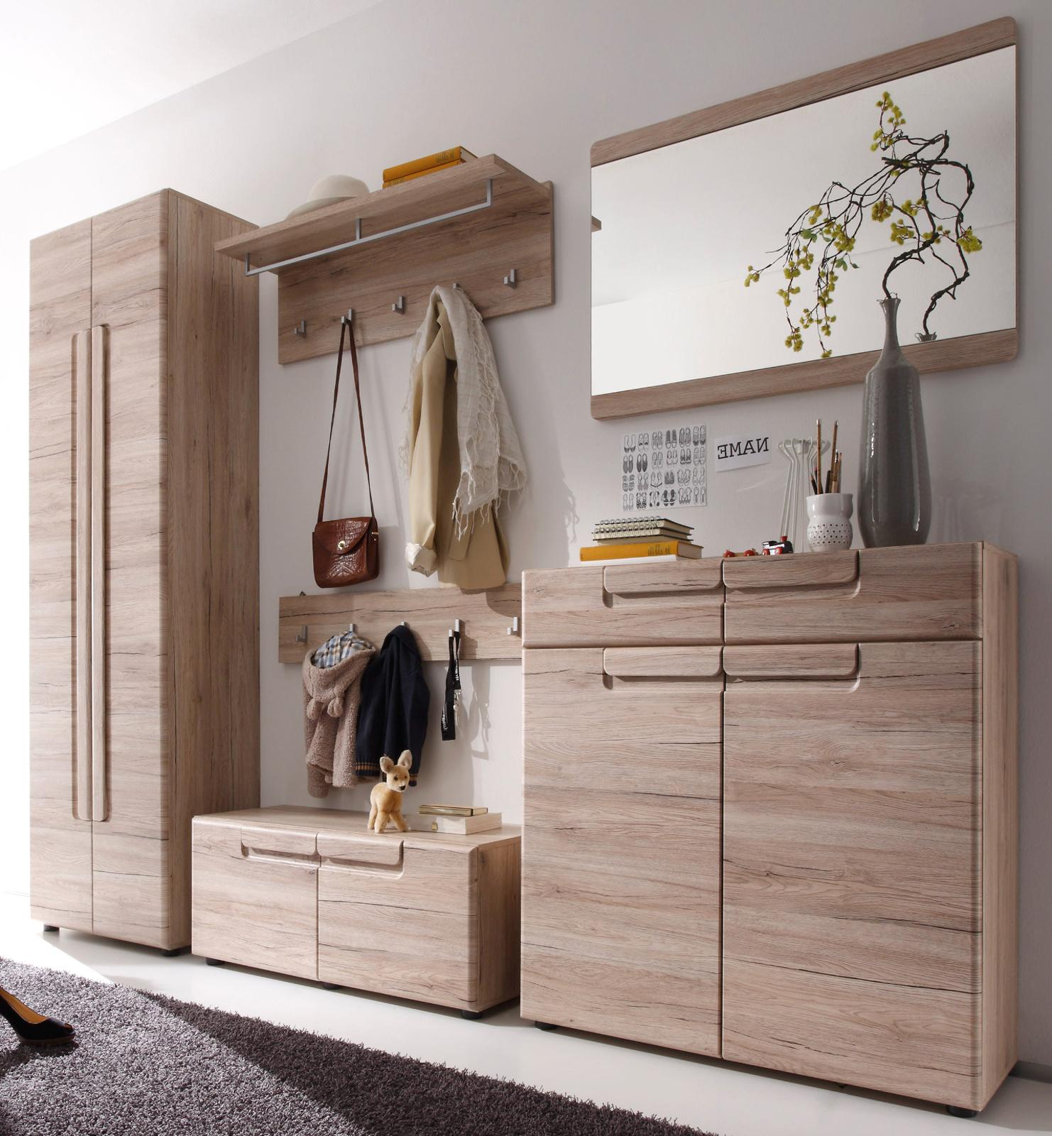 Garderobe Malea Eiche San Remo Set 6 Teilig 278 Cm