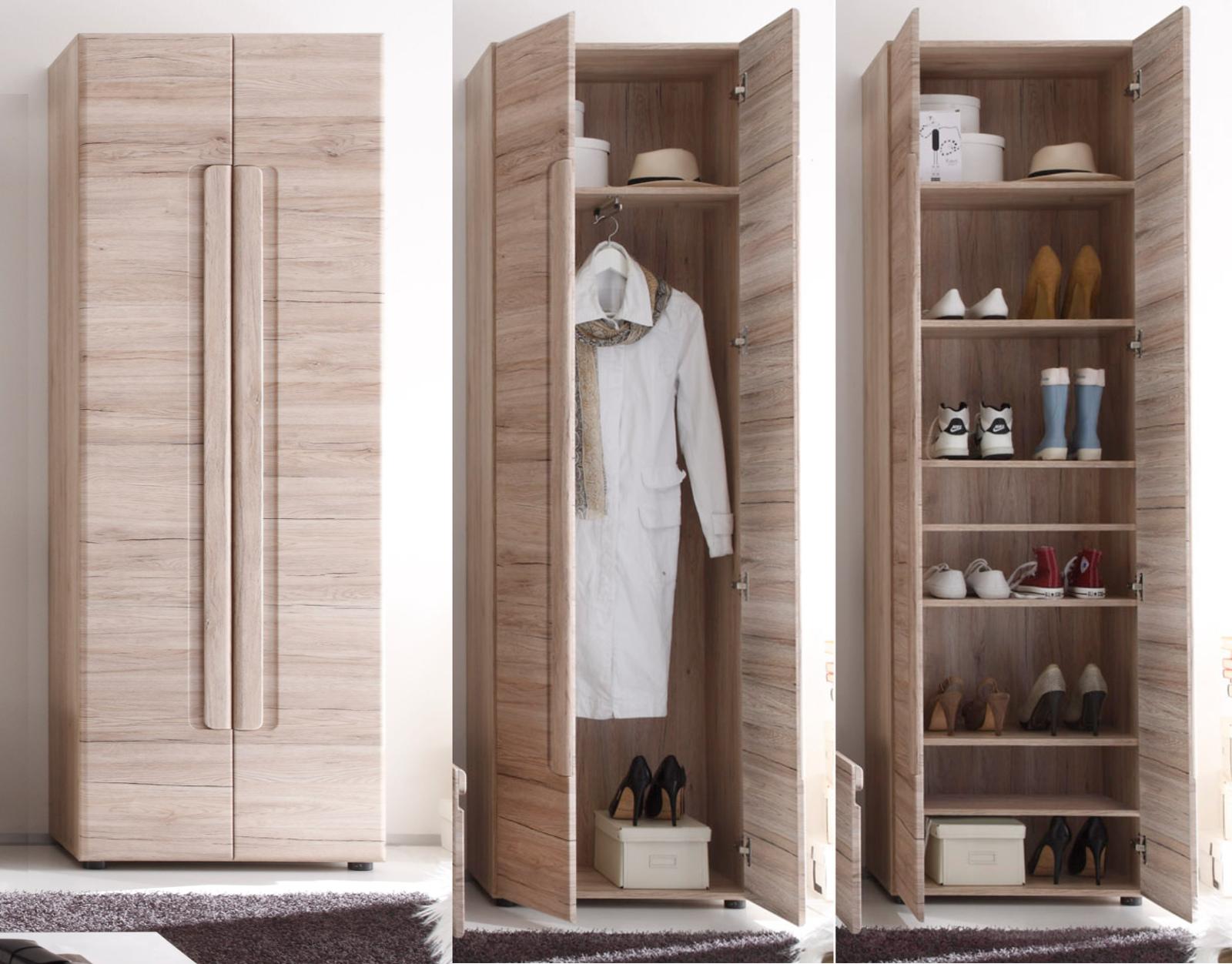 Garderobenschrank Und Schuhschrank Malea Eiche San Remo