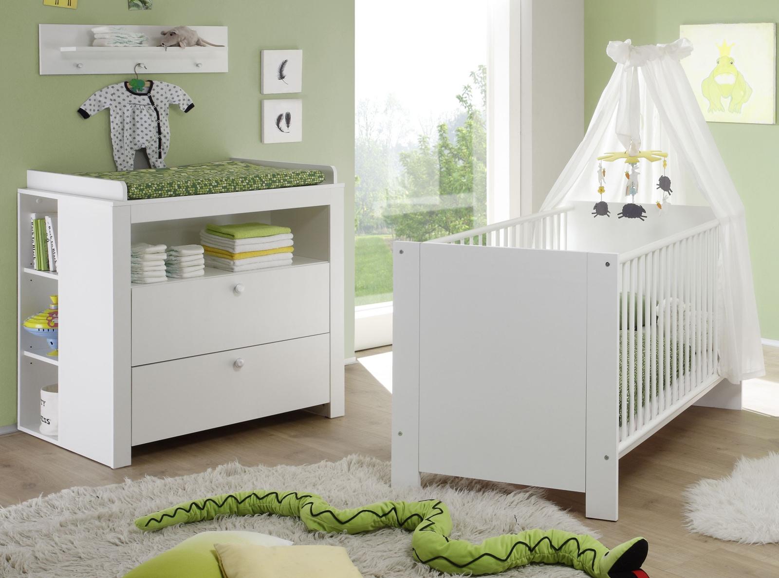 Babyzimmer Olivia Weiss Komplett Set 4 Teilig