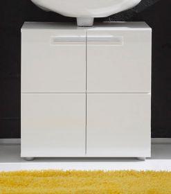 Waschbeckenunterschrank Bora Hochglanz weiß (60 x 56 cm)