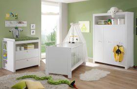 Babyzimmer komplett Set Olivia 5-teilig, weiß