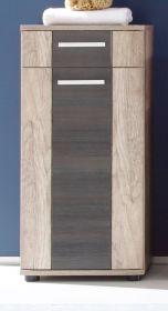 Badezimmer Unterschrank Star Monument Eiche hell mit Touchwood dunkel Bad Kommode 40 x 90 cm