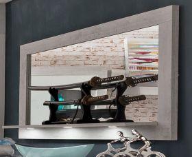 Wandspiegel Pure mit Ablage Industrie Beton Stone Design grau 160 x 88 cm