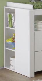 Babyzimmer Regal für Wickelkommode Olivia in weiß 25 x 93 cm Unterbauregal links oder rechts stellbar Wilson