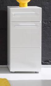 Bad Unterschrank Badezimmer Kommode Bora Hochglanz weiß 37x79 cm
