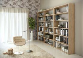 Bücherwand Bücherregal Raumteiler Dekor Eiche Natur