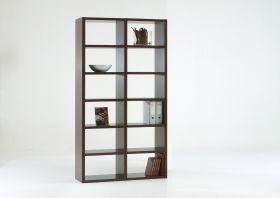 Bücherwand Bücherregal Raumteiler Dekor Wenge
