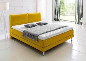 Boxspringbett Hotelbett Culture gelb 160 x 200 cm Mini Bonell + 7 Zonen Tonnentaschenfederkern Matratze