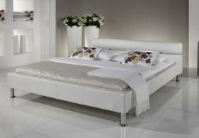 Doppelbett Polsterbett Ornella Leder Optik weiß 160 x 200 cm Kopfteil versch. Farben