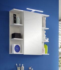 Bad Spiegelschrank weiß mit Regalen Key 70 cm