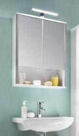 Badmöbel Spiegelschrank weiß Hochglanz 60 cm Tristo