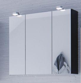 Badezimmer: Spiegelschrank Salona Anthrazit (70x62 cm) inkl. Beleuchtung