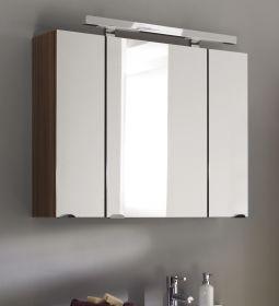 Badmöbel Spiegelschrank Laonda in Walnuss 3-türig