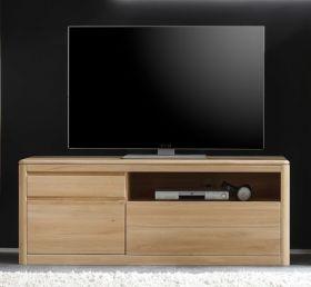 TV Lowboard TV-Unterteil Naturell N1 in Eiche Bianco massiv, geölt und gewachst