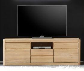 TV Lowboard TV-Unterteil in Eiche Naturell Bianco massiv, geölt und gewachst