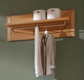 Garderobenpaneel mit Kleiderstange Vigo Kernbuche massiv, geölt / gewachst 115 x 45 cm