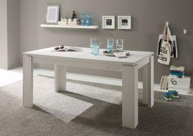 Esstisch Pinie in Struktur weiß Küchentisch ausziehbar 160 bis 200 cm