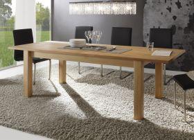 Esstisch in Kernbuche massiv, geölt und gewachst Tisch Ponto ausziehbar 180 - 240 cm