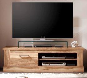 TV-Unterteil Lowboard Montreal in Nussbaum Satin Fernsehtisch 146 x 45 cm TV-Unterteil