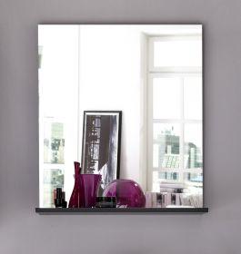 Bad Wandspiegel grau mit Ablage 60 x 71 cm Badmöbel Smart