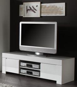 TV - Element Lowboard weiss Hochglanz Lack Livorno5