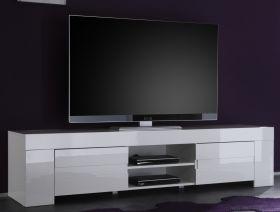 TV-Unterteil Lowboard weiss Hochglanz Lack Italien Vienda