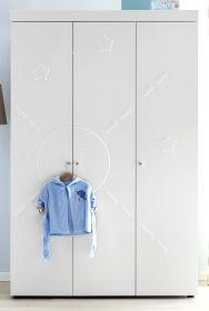 Babyzimmer Kleiderschrank Stars matt weiß