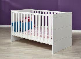 Babyzimmer Babybett Luca-S inkl. Matratzenrahmen in matt weiß 76 x 144 cm