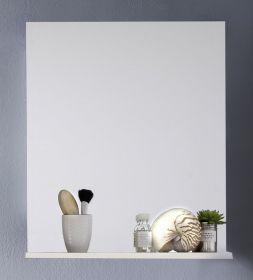Badezimmer-/Badspiegel Intenso mit Ablageboden Hochglanz weiß 60x78 cm