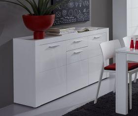 Sideboard Anrichte Kito Hochglanz weiß 148 x 85 cm