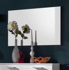 Wandspiegel Garderobe Ice in weiß Melamin 91 x 60 cm Garderobenspiegel