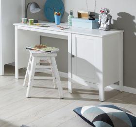 Jugendzimmer Schreibtisch Ole mit Unterschrank in weiß 115 x 75 cm