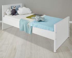Jugendzimmer Jugendbett Ole in weiß Bett Liegefläche 90 x 200 cm