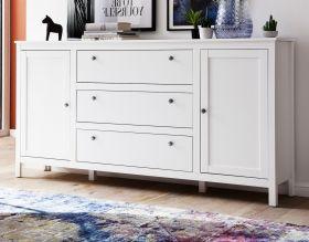 Kommode Ole in weiß Wohnzimmer Sideboard und Esszimmer Anrichte 183 x 98 cm