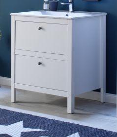 Waschbeckenunterschrank Ole weiß Waschtisch inkl. Waschbecken Badkombination 2-teilig 61 x 82 cm