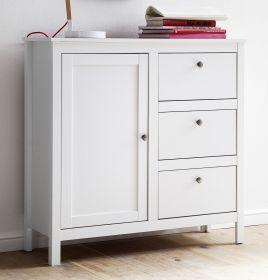 Flur Kommode Ole in weiß Garderobenschrank 96 x 98 cm