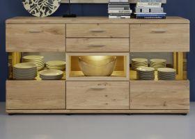 Sideboard Savona in Asteiche Bianco massiv geölt / gewachst Kommode 185 x 85 cm - Sofort lieferbar -