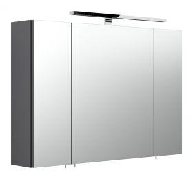 Badezimmer: Spiegelschrank Heron Anthrazit (90x62 cm) inkl. Beleuchtung